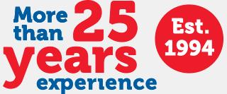Több mint 20 év tapasztalat