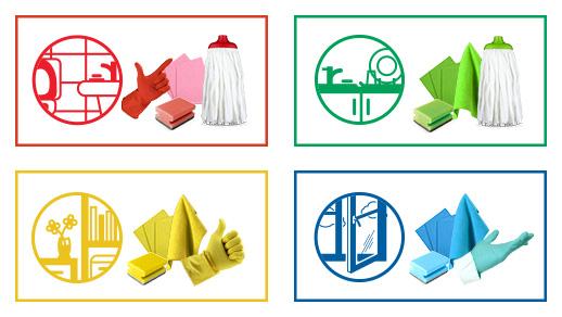 Négyszínű takarítás