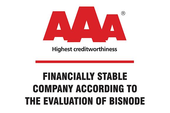 Ismét AAA tanúsítványban részesültünk
