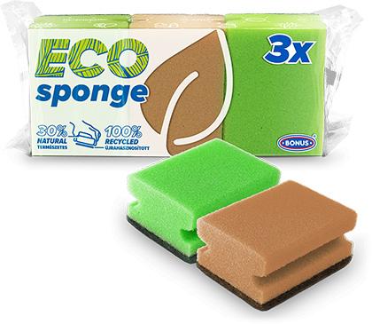B019 BONUS formázott mosogatószivacs 3/1 csomagolásában