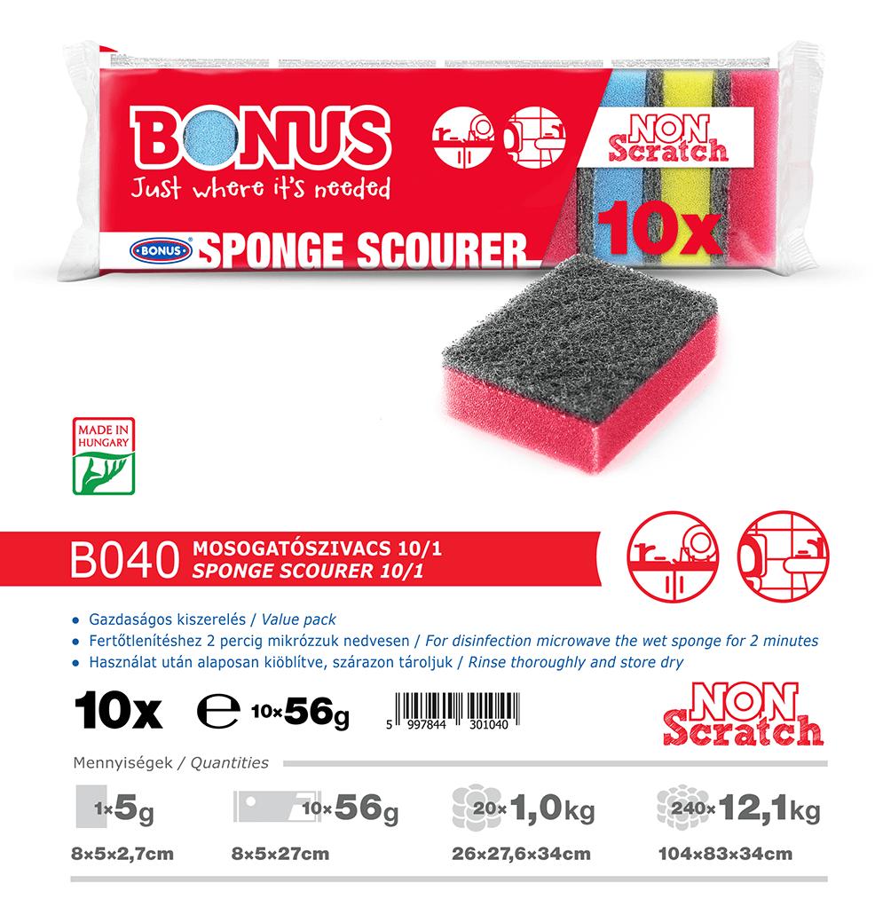 B040 Bonus Mosogatószivacs 10/1 katalógus adatok