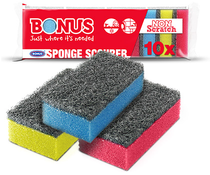 B040 BONUS Sponge Scourer 10/1 packaging