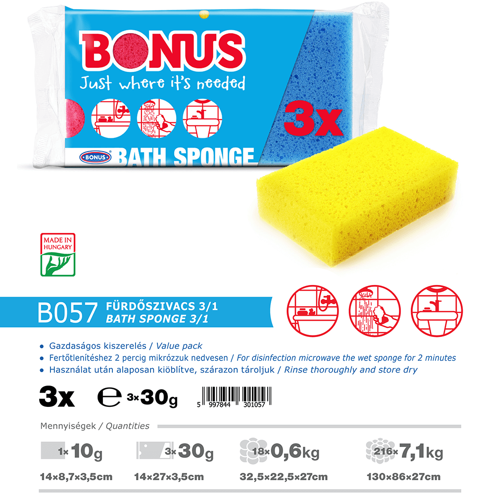 B057 Bonus fürdőszivacs 3/1 katalógus adatok