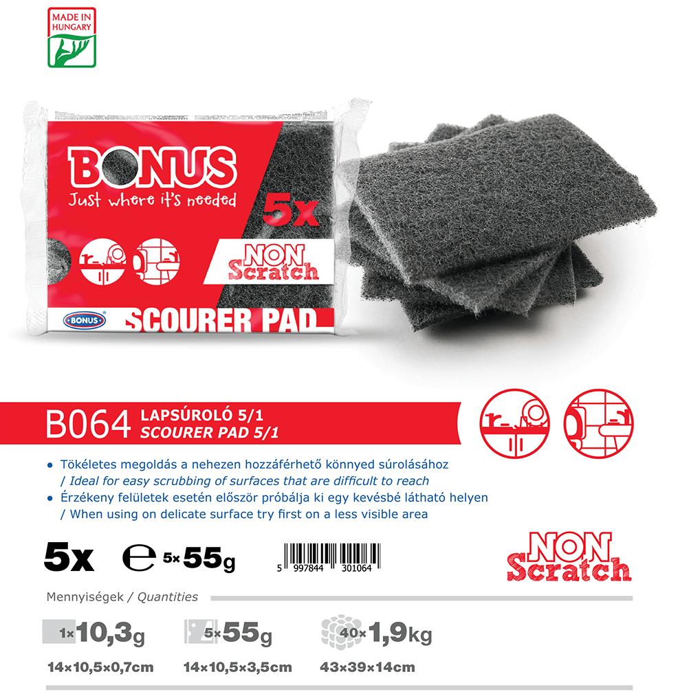 B064 Bonus lapsúroló 5/1 katalógus adatok