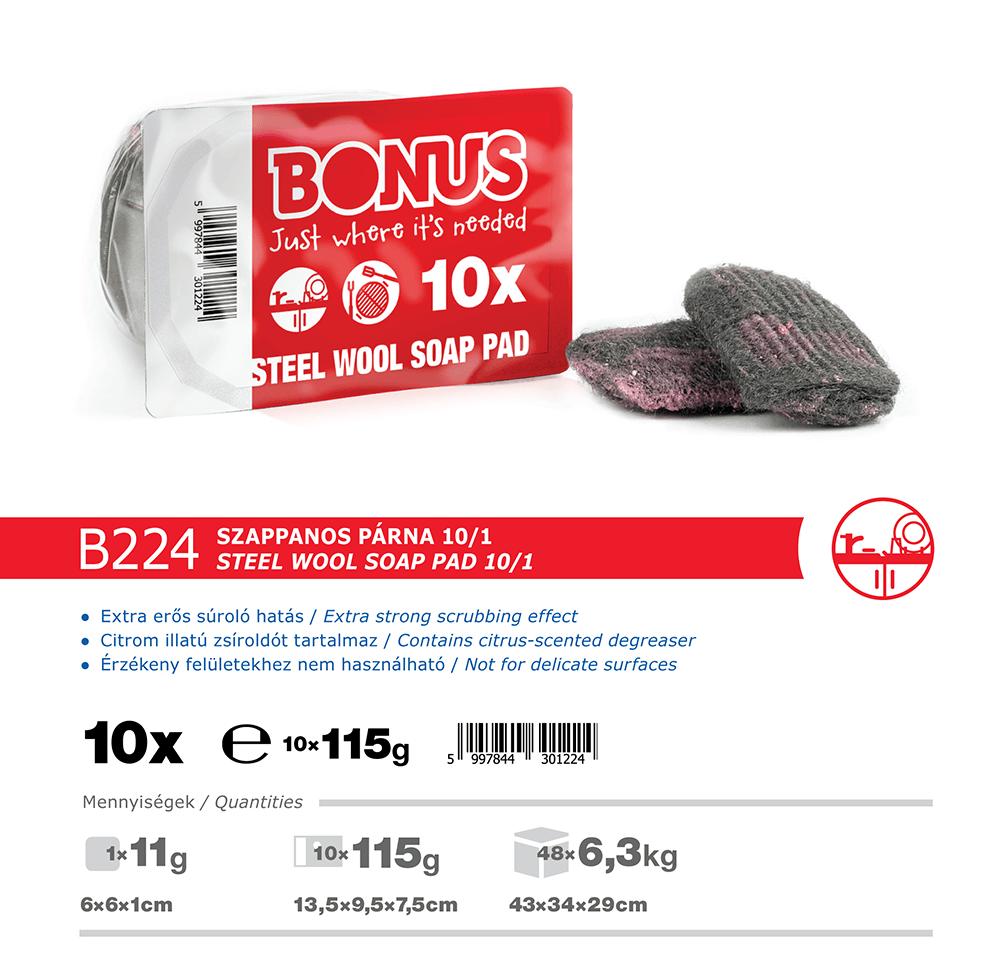 B224 Bonus szappanos párna 10/1 katalógus adatok