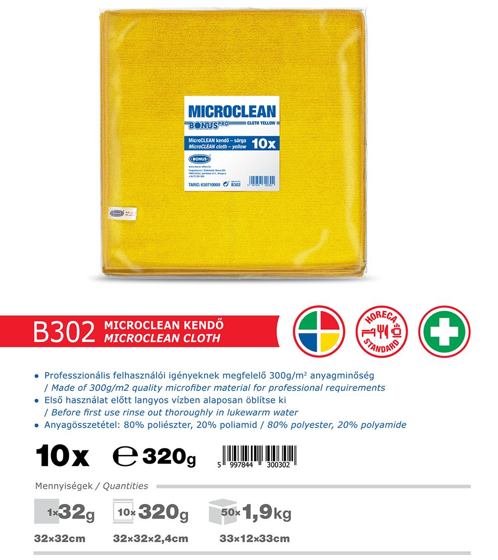 B302 BonusPRO MicroCLEAN 10/1 mikroszálas törlőkendő katalógus adatok