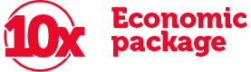 Extra economic 10-piece pack