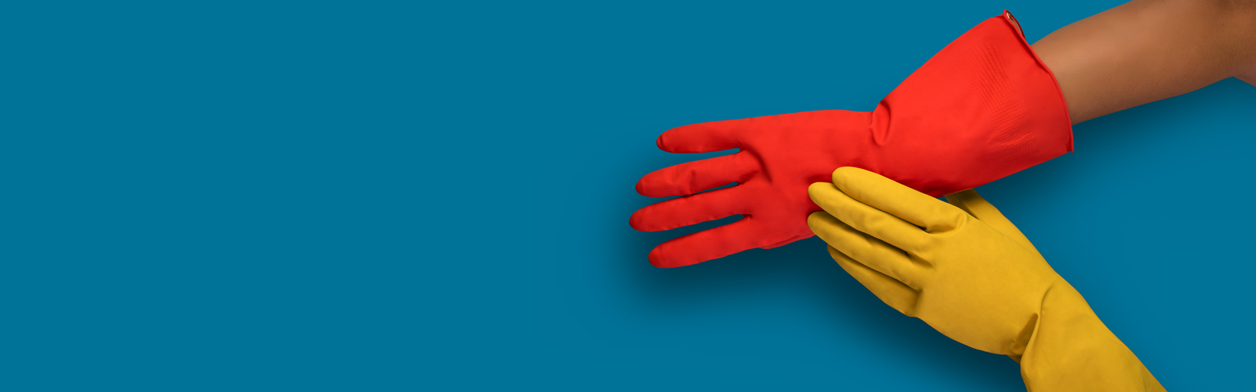 Plastic glove protection for your hand