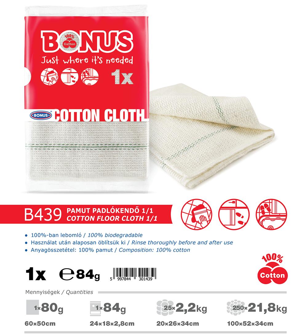 B439 Bonus pamut padlókendő 1/1 katalógus adatok