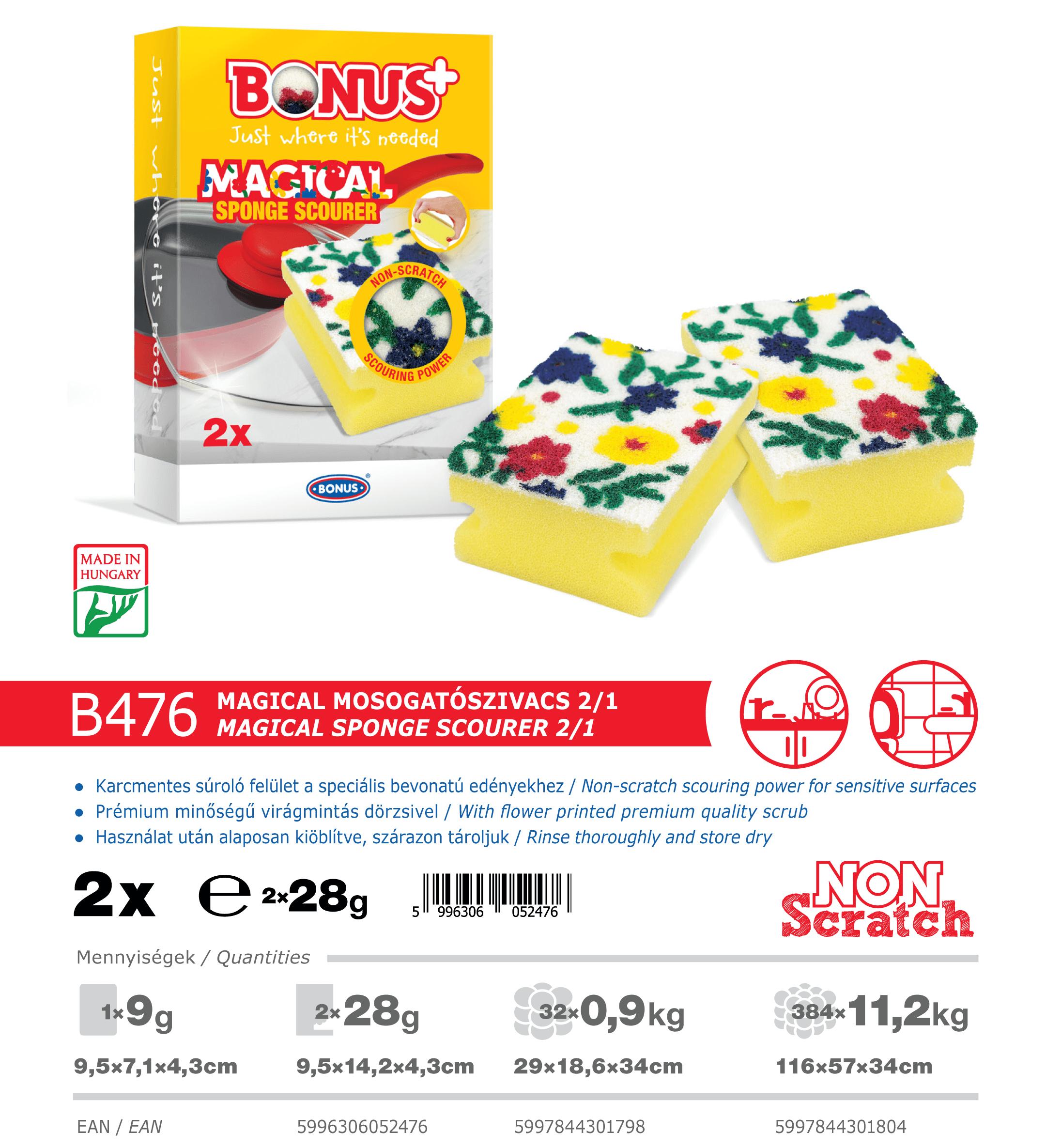 B476 Bonus+ Magical mosogatószivacs 2/1 katalógus adatok