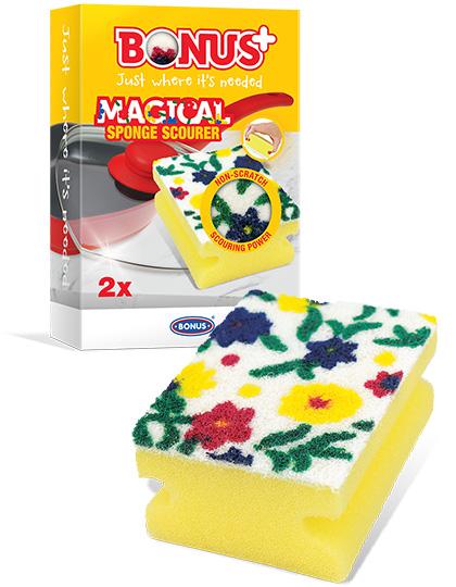 B476 BONUS+ Magical karcmentes mosogatószivacs 2/1 csomagolásában