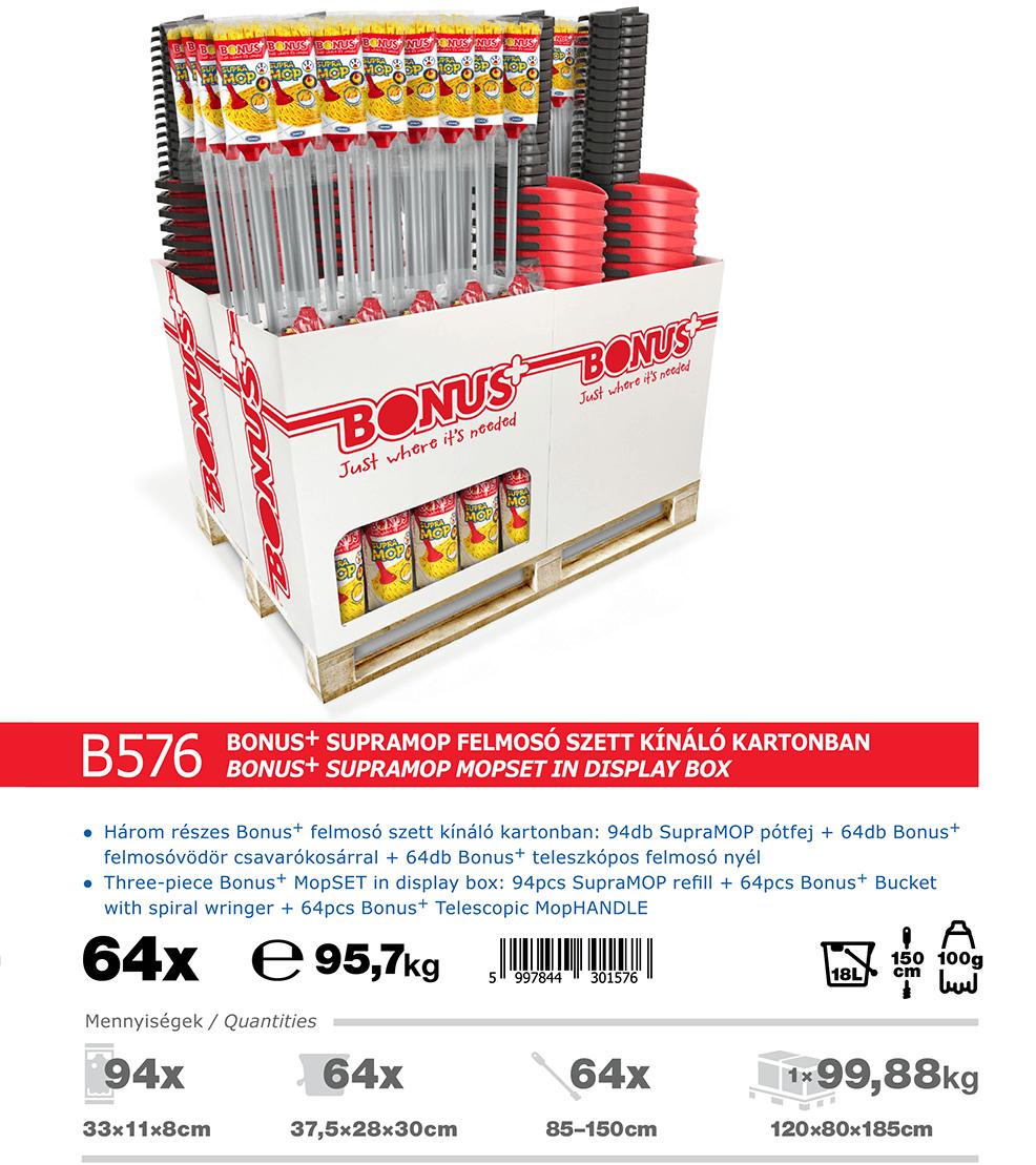 B576 Bonus+ SupraMOP felmosó szett katalógus adatok