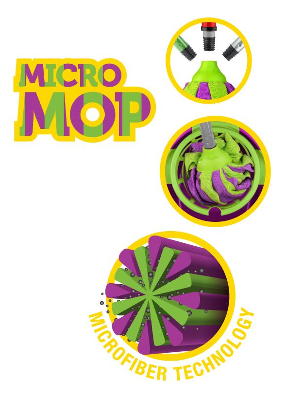 B629 Bonus + MicroMOP микроволокна для замены швабры