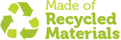 Hergestellt aus recycelten Materialien