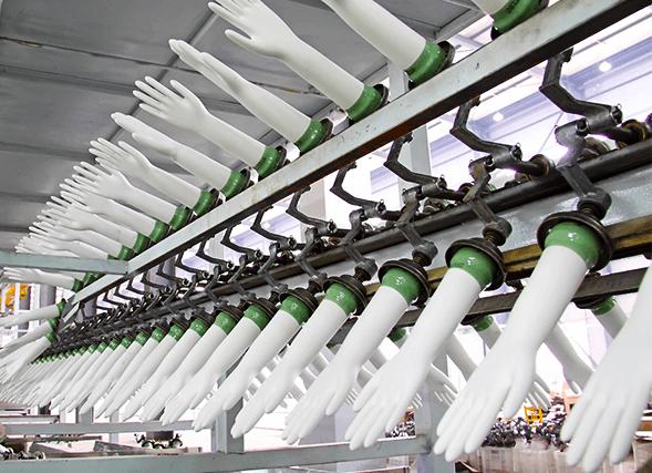 Latex gumikesztyű gyártósor